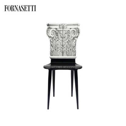 Picture of Fornasetti Chair Capitello Corinzio black/white