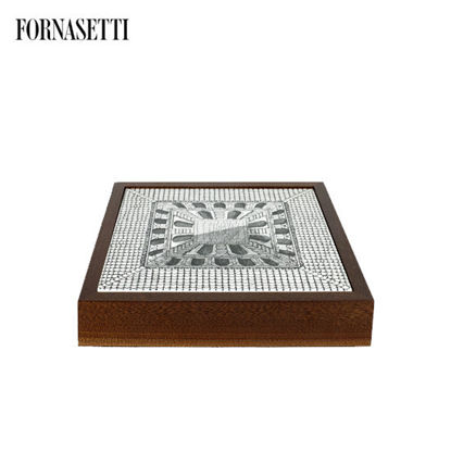 Picture of Fornasetti Chess board Cortile black/white