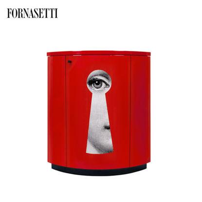 Picture of Fornasetti Corner cabinet Serratura red