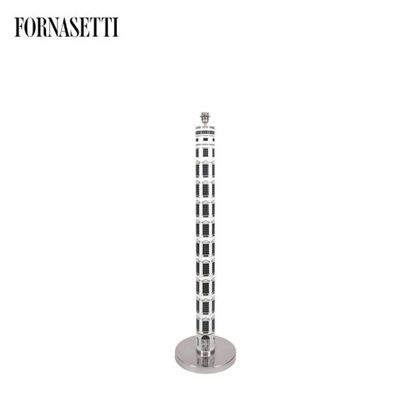 Picture of Fornasetti Floor lamp Architettura black/white - chromed details
