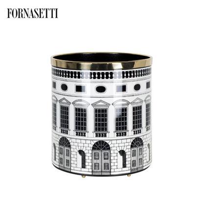 Picture of Fornasetti Paper basket Architettura black/white