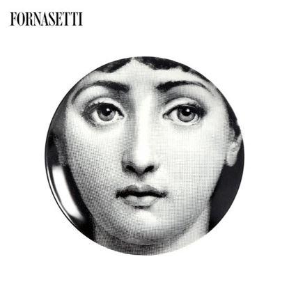 Picture of Fornasetti Porcelain Wall plate Tema e Variazioni n°1 black/white