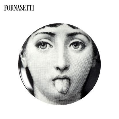 Picture of Fornasetti Porcelain Wall plate Tema e Variazioni n°82 black/white
