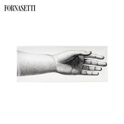 Picture of Fornasetti Rectangular tray Mano black/white