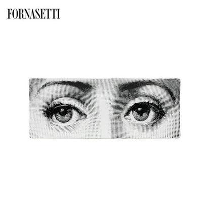 Picture of Fornasetti Rectangular tray Occhi black/white