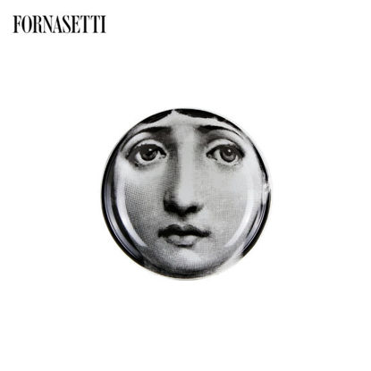 Picture of Fornasetti Round ashtray Tema e Variazioni n°1 black/white