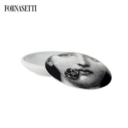Picture of Fornasetti Round box Tema e Variazioni n°137 black/white