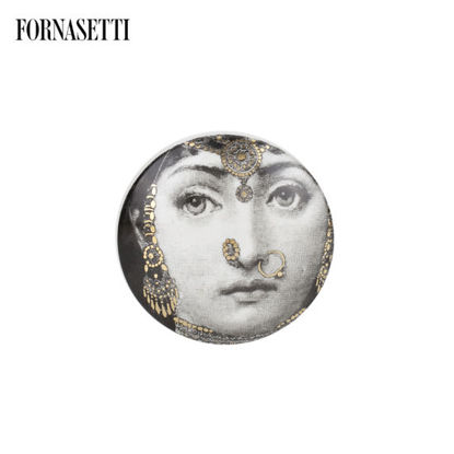 Picture of Fornasetti Round box Tema e Variazioni n°228 black/white/gold