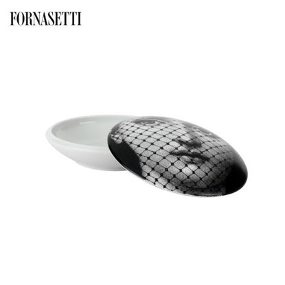 Picture of Fornasetti Round box Tema e Variazioni n°78 black/white