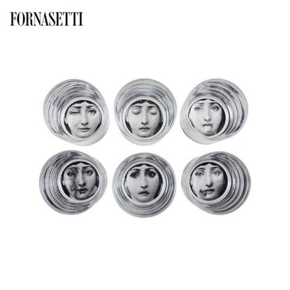 Picture of Fornasetti Set 6 glasses Tema e Variazioni