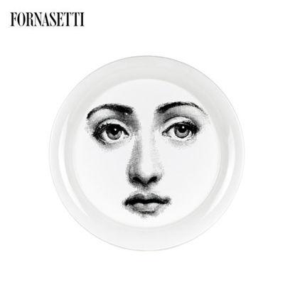 Picture of Fornasetti Tray ø40 Tema e Variazioni n°6 black/white