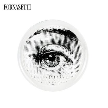 Picture of Fornasetti Tray ø60 Occhio black/white