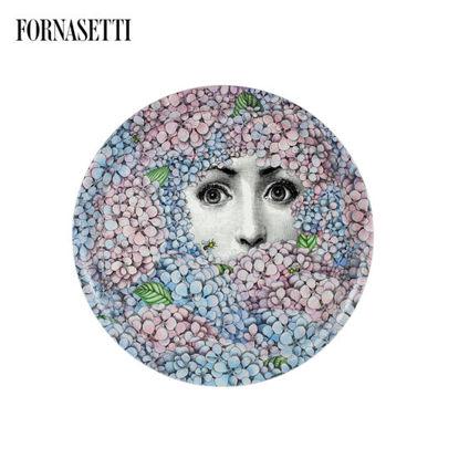 Picture of Fornasetti Tray ø60 Ortensia colour
