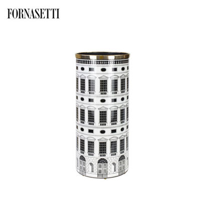 Picture of Fornasetti Umbrella stand Architettura black/white