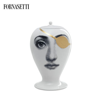 Picture of Fornasetti Vase Pirata black/white/gold