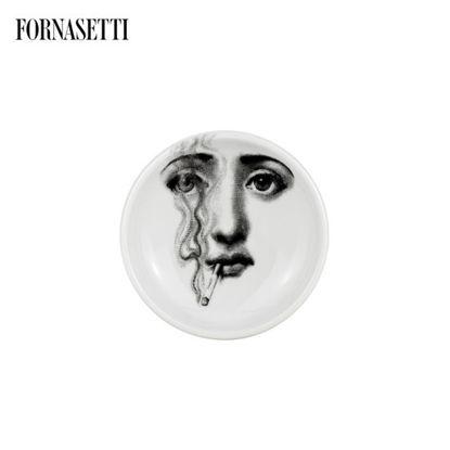Picture of Fornasetti Round ashtray Tema e Variazioni n°81 blackwhite