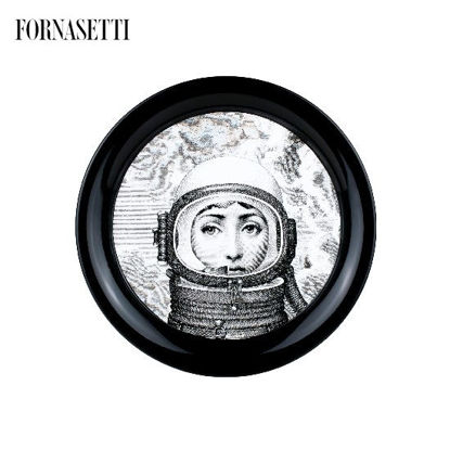 Picture of Fornasetti Tray ø40 Palombara black/white
