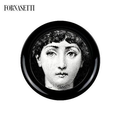 Picture of Fornasetti Tray ø40 Tema e Variazioni n°1 black/white