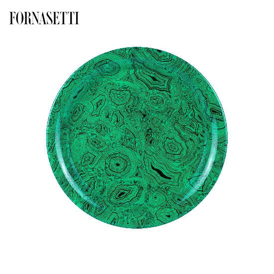 Picture of Fornasetti Tray ø40 Malachite Green