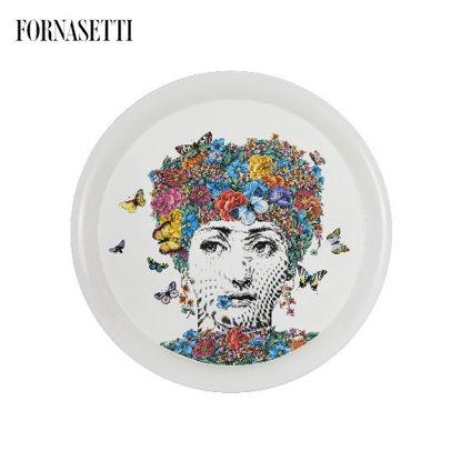 Picture of Fornasetti Tray ø60 Fior di Lina colour