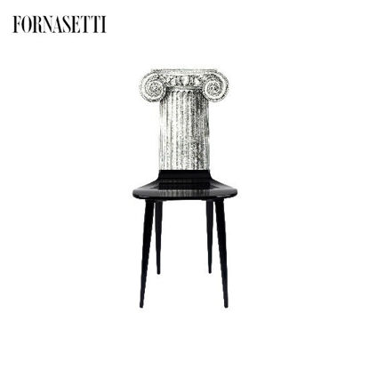 Picture of Fornasetti Chair Capitello Jonico black/white