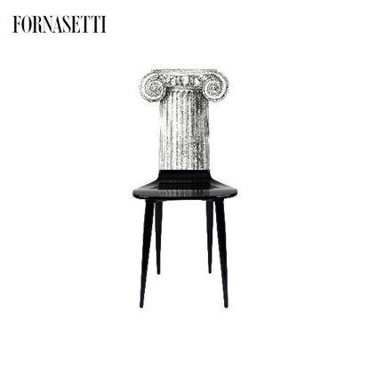 Picture of Fornasetti Chair Capitello Jonico black/white