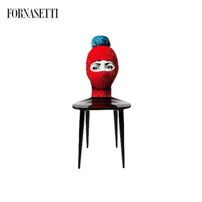 Picture of Fornasetti Chair Lux Gstaad red/ponpon light blue