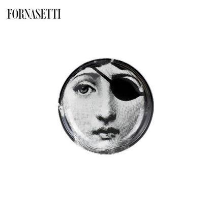 Picture of Fornasetti Round ashtray Tema e Variazioni n°8 black/white