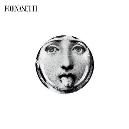 Picture of Fornasetti Round ashtray Tema e Variazioni n°82 black/white