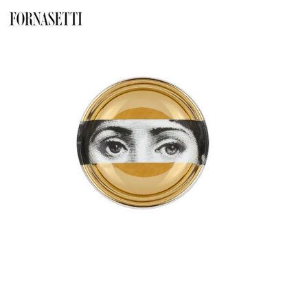 Picture of Fornasetti Round ashtray Tema e Variazioni n°32 black/white/gold