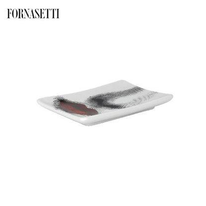 Picture of Fornasetti Rectangular ashtray Bocca colour