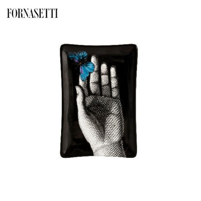 Picture of Fornasetti Rectangular ashtray Mano blue butterfly Fornasetti pour L'Eclaireur