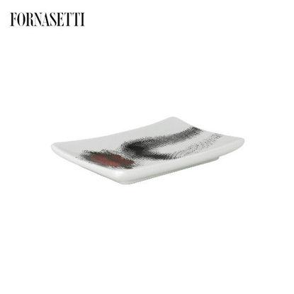 Picture of Fornasetti Rectangular ashtray Bacio colour