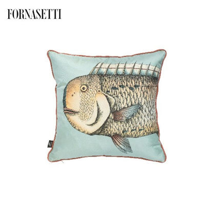 Picture of Fornasetti Set of 2 silk cushions Grande Pesce