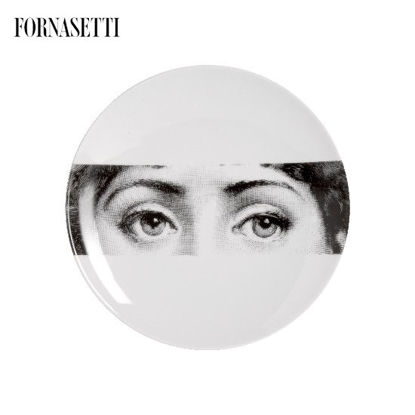 Picture of Fornasetti Porcelain Wall plate Tema e Variazioni n°32 black/white
