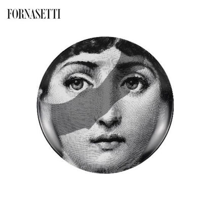 Picture of Fornasetti Porcelain Wall plate Tema e Variazioni n°134 black/white