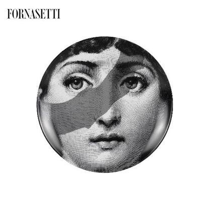 Picture of Fornasetti Porcelain Wall plate Tema e Variazioni n°134 black/white