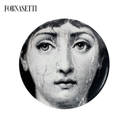 Picture of Fornasetti Porcelain Wall plate Tema e Variazioni n°243 black/white