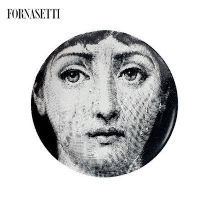 Picture of Fornasetti Porcelain Wall plate Tema e Variazioni n°243 black/white