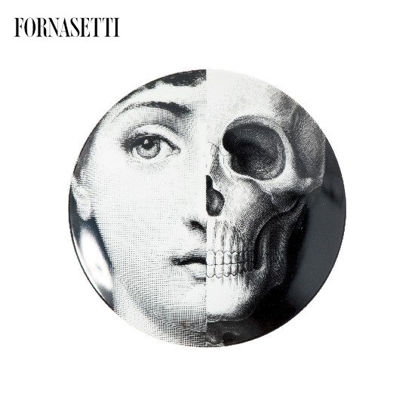 Picture of Fornasetti Porcelain Wall plate Tema e Variazioni n°288 black/white