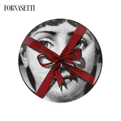 Picture of Fornasetti Porcelain Wall plate Tema e Variazioni n°171 - Gift colour