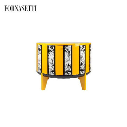 Picture of Fornasetti Tamburo table Rigalina colour - with drawer divider