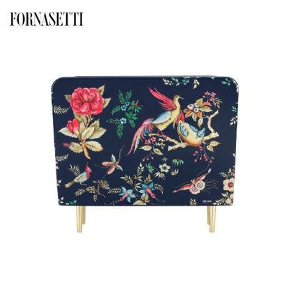 Picture of Fornasetti Magazine rack Coromandel colour/silver/blue