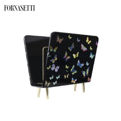 Picture of Fornasetti Magazine rack Farfalle colour/black