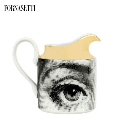 Picture of Fornasetti Milk jug Tema e Variazioni black/white/gold