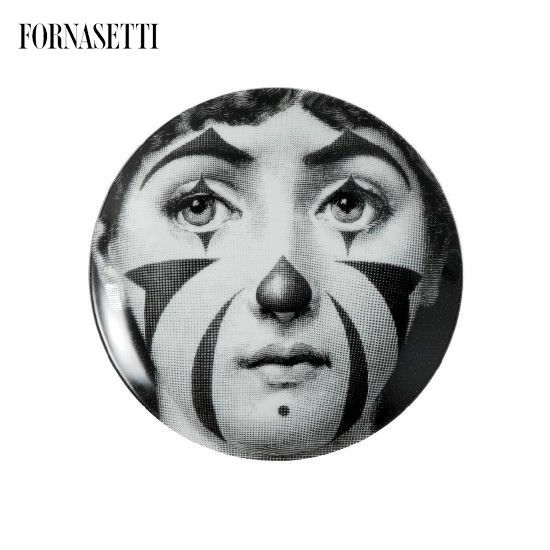 Picture of Fornasetti Porcelain Wall plate Tema e Variazioni n°122 black/white