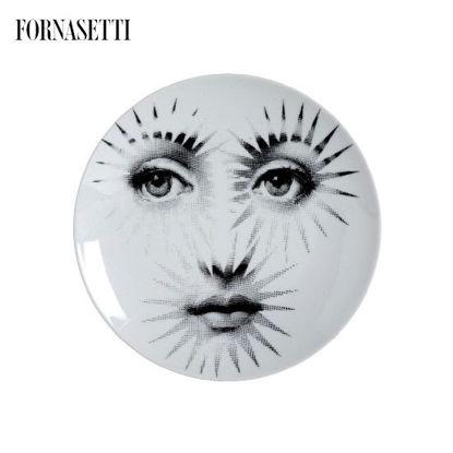 Picture of Fornasetti Porcelain Wall plate Tema e Variazioni n°132 black/white