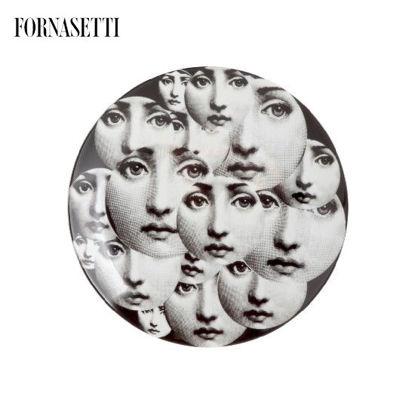 Picture of Fornasetti Porcelain Wall plate Tema e Variazioni n°165 black/white