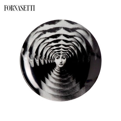 Picture of Fornasetti Porcelain Wall plate Tema e Variazioni n°172 black/white