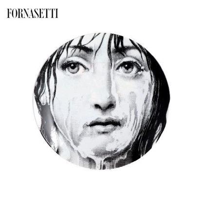 Picture of Fornasetti Porcelain Wall plate Tema e Variazioni n°174 black/white